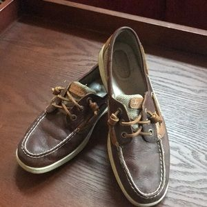 Sperry Topsiders, Sz 8.5 Brown and Tan